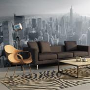 Fototapeta XXL - Czarno-biała panorama Nowego Jorku