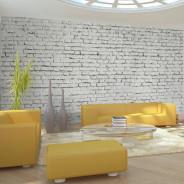 Fototapeta XXL - Ściana z białej surowej cegły