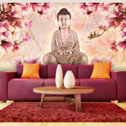 Fototapeta XXL - Budda i magnolia