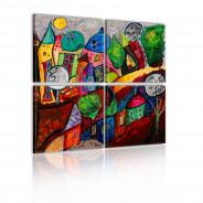Obraz - Kolorowe miasto