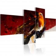 Obraz - Malutki ptaszek na czterech częściach