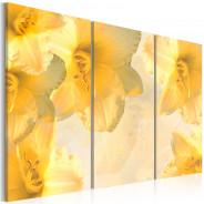 Obraz - Delikatne lilie w odcieniu żółtym