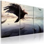 Obraz - Orzeł nad taflą jeziora