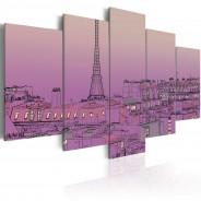 Obraz - Lawendowy wschód słońca nad Paryżem