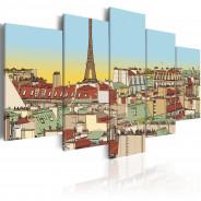 Obraz - Idylliczny obrazek Paryża