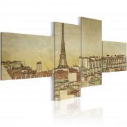 Obraz - Paryski szyk w wydaniu Retro