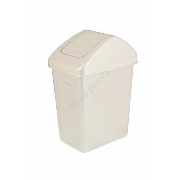 Kosz na śmieci z uchylną pokrywą 10 L
