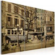 Obraz - Paryska fontanna w sepii
