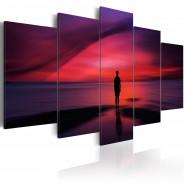 Obraz - Mężczyzna podziwiający zachód słońca