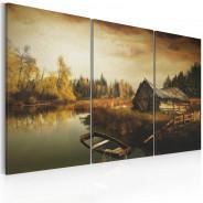 Obraz - Idyllic village - triptych