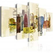 Obraz - Urban design - 5 części
