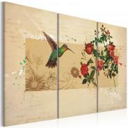 Obraz - Koliber i róże