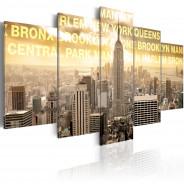 Obraz - Manhattan, Queens, Bronx, Central Park ...