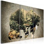 Obraz - Niedźwiedź w lesie