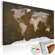 Obraz na korku - Cynamonowe podróże [Mapa korkowa]