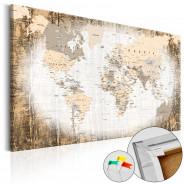 Obraz na korku - Enklawa świata [Mapa korkowa]