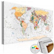 Obraz na korku - Mury świata [Mapa korkowa]