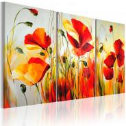 Obraz malowany - Czerwona łąka