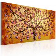 Obraz malowany - Pawie drzewo