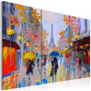 Obraz malowany - Deszczowy Paryż