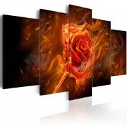 Obraz - Płonąca róża