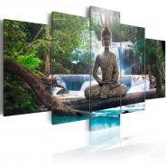 Obraz - Budda i wodospad