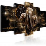 Obraz - Brązowe słonie