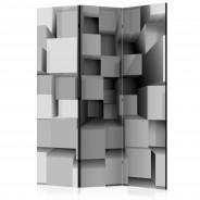 Parawan 3-częściowy - Geometryczne puzzle [Room Dividers]