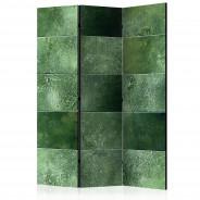 Parawan 3-częściowy - Zielona układanka [Room Dividers]