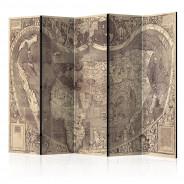 Parawan 5-częściowy - Parawan: Mapa ( Amerigo Vespucci ! )