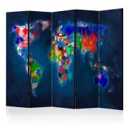 Parawan 5-częściowy - Parawan: Mapa kolorowa