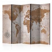 Parawan 5-częściowy - Orientalne podróże [Room Dividers]