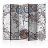 Parawan 5-częściowy - Terraqueous Globe [Room Dividers]