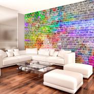 Fototapeta - Tęczowy mur