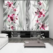 Fototapeta - Różowe orchidee w platynie
