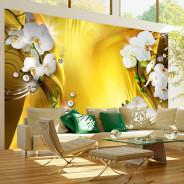 Fototapeta - Orchidea w złocie