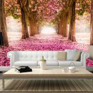Fototapeta - Różowy gaj
