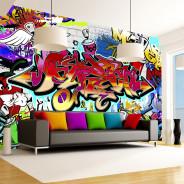 Fototapeta - Street art: czerwony motyw