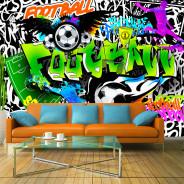Fototapeta - Piłkarskie graffiti