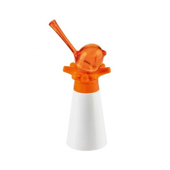 Młynek do pieprzu i przypraw z solniczką pomarańczowy Pi:P