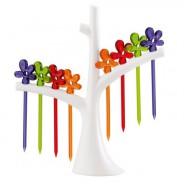 Widelczyki do przekąsek na stojaku Koziol PIC UP kolorowe