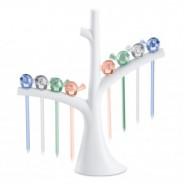 Zestaw 8 szt. widelczyków do koreczków na drzewku Koziol PI:P transparentne