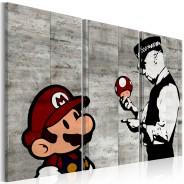 Obraz - Banksy: Mario Bros