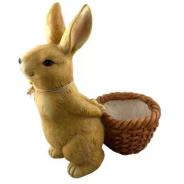 Figurka królik z koszykiem