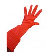 Długie rękawice z gumy