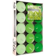 Zestaw świec zapachowych- zielona herbata 30 szt.