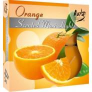 Zestaw świec zapachowych- pomarańcza 4 szt.