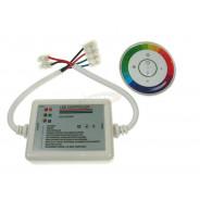 Kontroler LED RF dotykowy 18A 6 key biały okrągły 001966