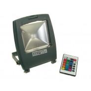 Naświetlacz LED Ralf 10W RGB szary z pilotem