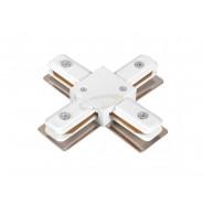 Łącznik szyny 1 fazowej Pant czterodrożny biały